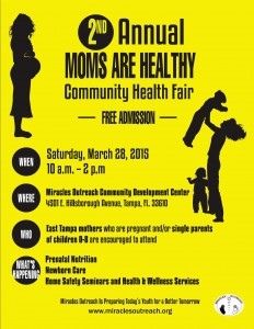 Miracles Outeach Moms are Healthy Community Health Fair